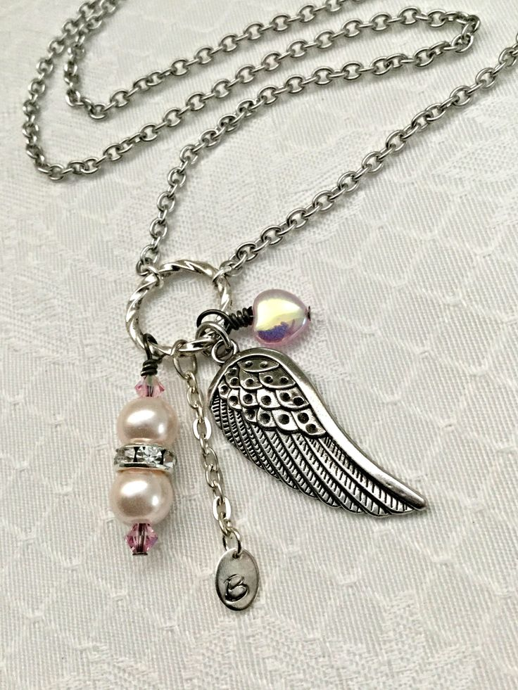A personal favorite from my Etsy shop https://www.etsy.com/listing/546787172/winged-survivor-necklace-pink-pearl-and