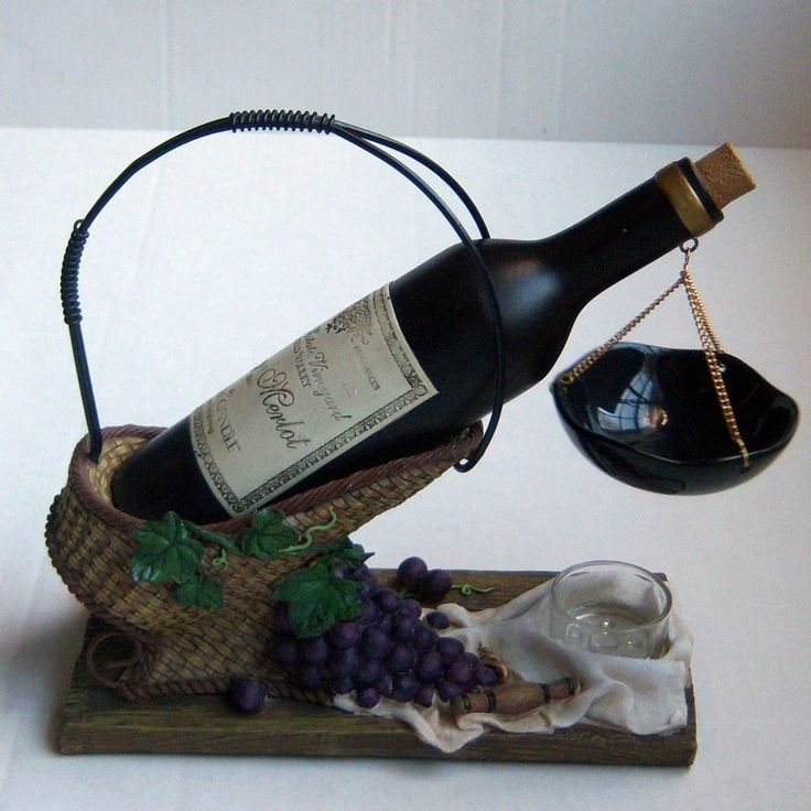 Yankee Candle Wine Bottle Hanging Tart Burner Wax Melts Warmer Grapes Basket #YankeeCandle