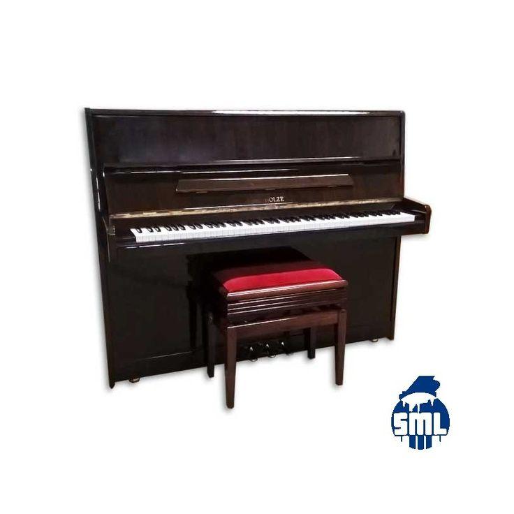 Piano vertical usado Scholze com 120cm de altura e móvel em nogueira.
