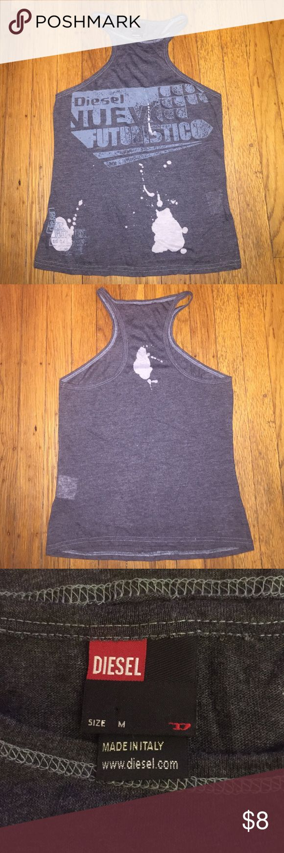 Diesel tank top Distressed tank top size M. Diesel Tops Tank Tops