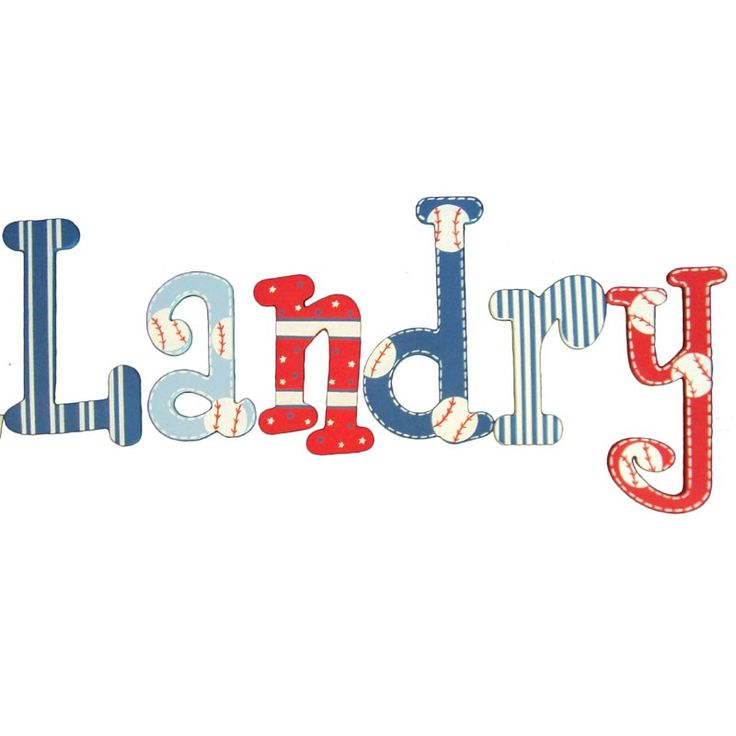 Rosenberry Rooms has everything imaginable for your child's room! Share the news and get $20 Off  your purchase! (*Minimum purchase required.) Landry Baseball Fan Hand Painted Wall Letters