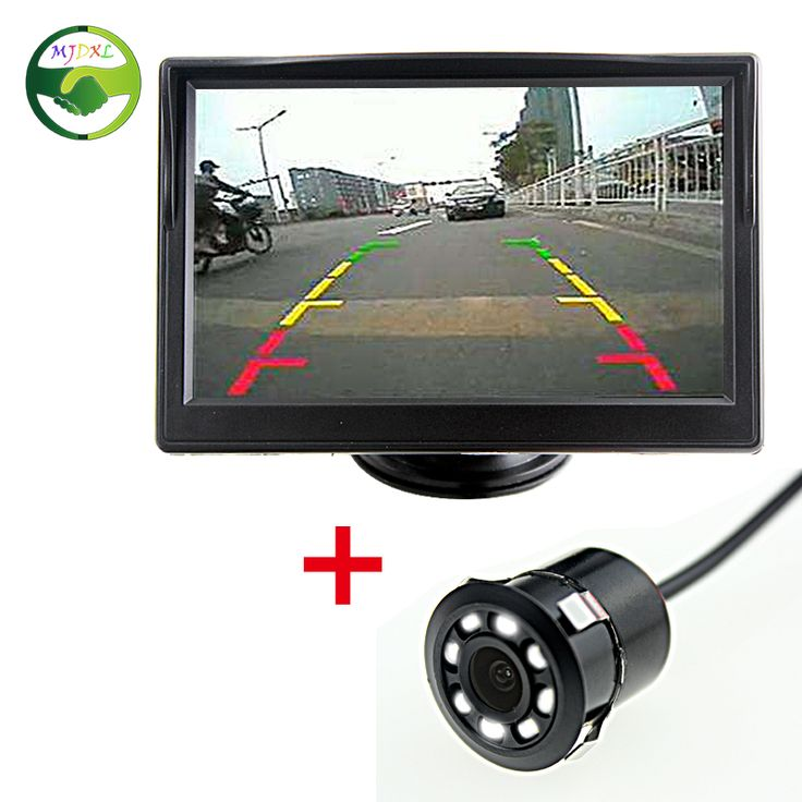 """MJDXL Auto Parking Assistance 8 LED Night Vision Car Rear View Backup Camera+ 5"""" LCD TFT Color Car Parking Rear View Monitor"""