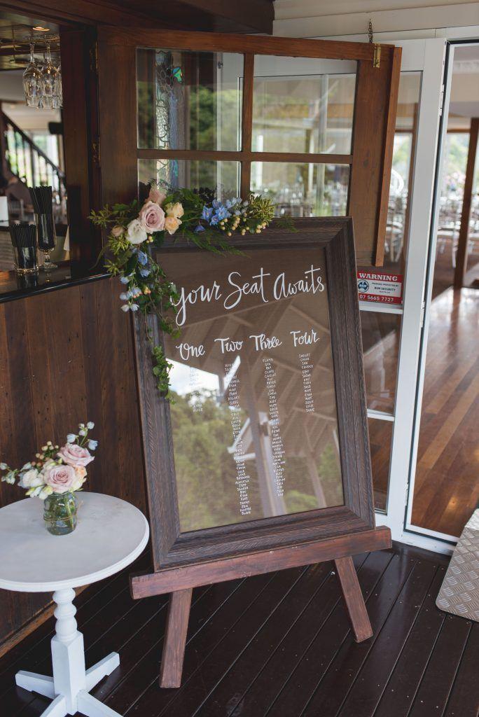 Walnut Wedding Signage Easel - Lovebird Weddings, Noosa Australia