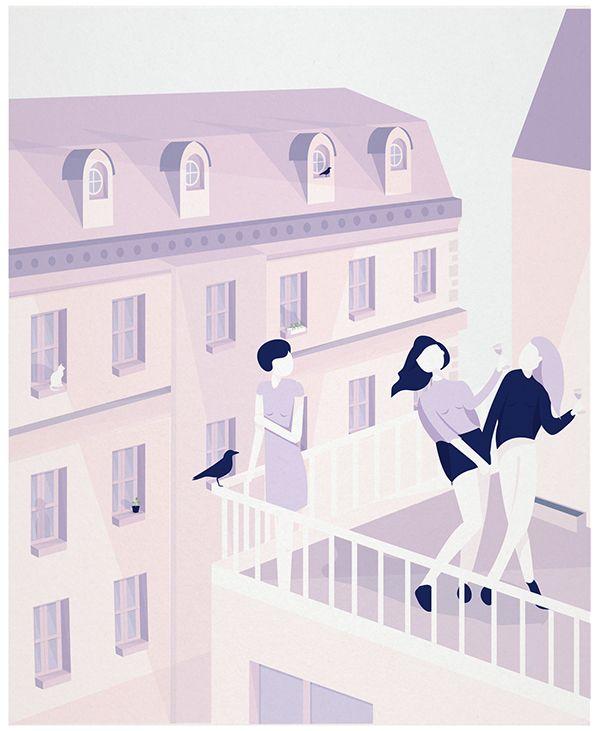 Salomé Gautier rose on Behance