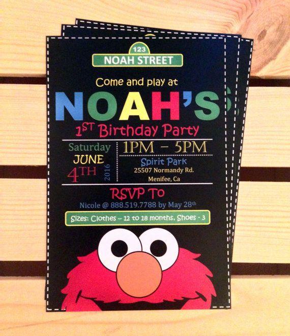 best 25+ elmo party ideas on pinterest | sesame street birthday, Birthday invitations