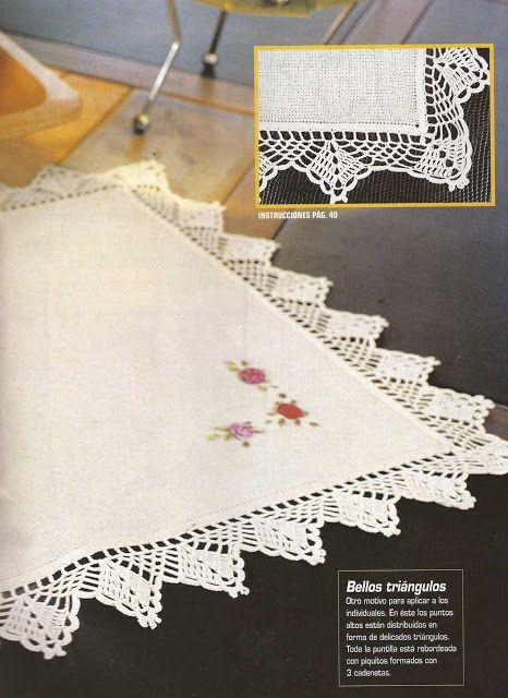 Mejores 32 imágenes de Encajes a Crochet en Pinterest | Patrones ...