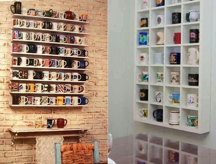 Mugs collection display
