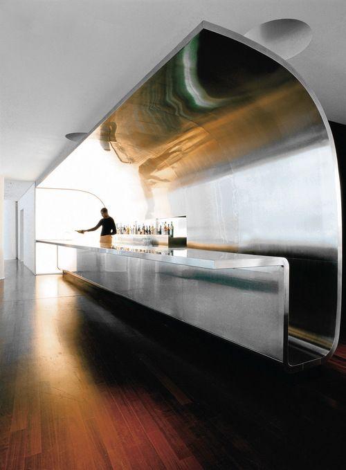 mezzanine cocktail bar counter