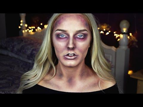 Zombie Makeup Tutorial Easy For Halloween - YouTube