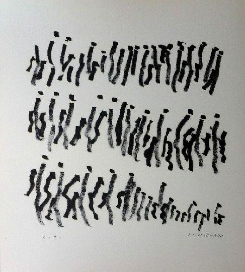Henri MICHAUX Par la voie des rythmes 157  Technique Lithographie 1974