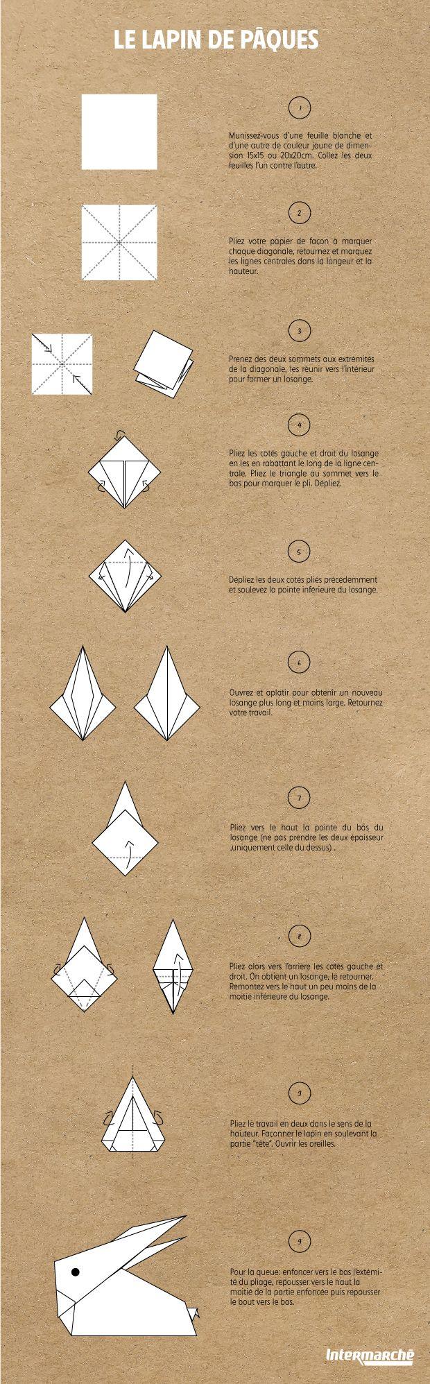 Tuto Origami pour un Lapin de Pâques