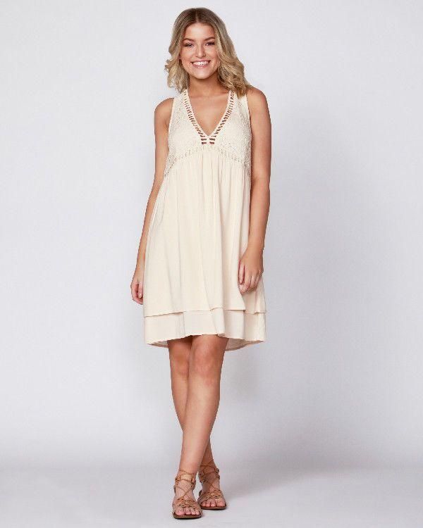 SASS Brand Peach Sleeveless Crochet Neckline Empire Sun Dress Size 12 BNWT   ST13 9f14d9b6d