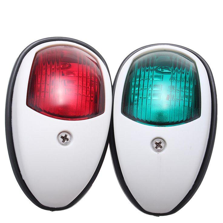12V LED Marine Boat Yacht Lamp Bow Navigation Light Red Green Waterproof
