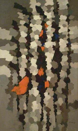 William Gear (1915-1997) was een Schots kunstschilder. Zijn werk is in het begin abstract-expressionistisch, met duidelijke invloeden van Paul Klee. Vanaf de jaren vijftig wordt zijn werk meer geometrisch, met grote, ronde vormen.
