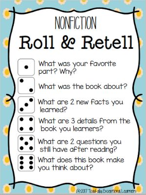 A fun free way to support non-fiction retells during #guidedreading. Based on the questions from the #DRA and the #BAS. Read more at Toad-ally Exceptional Learners