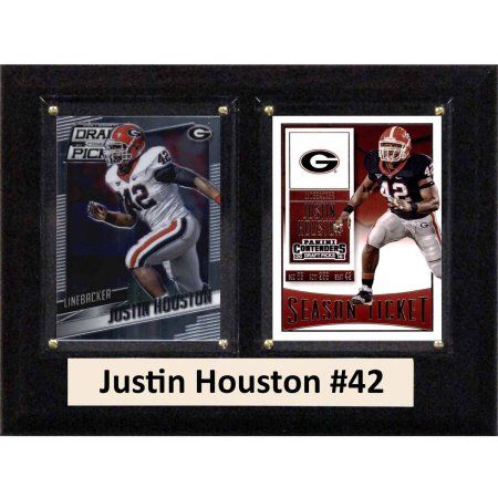 C & I Collectables Ncaa 6 inch x 8 inch Justin Houston Georgia Bulldogs 2 Card Plaque