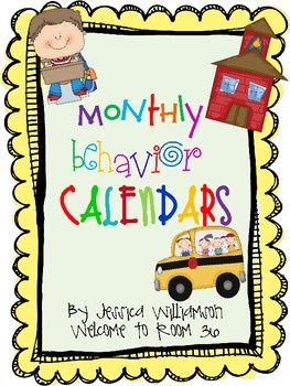 Keep track of students conduct with the monthly behavior calendars. This set is for the 2012-2013 school year. Includes August-June....