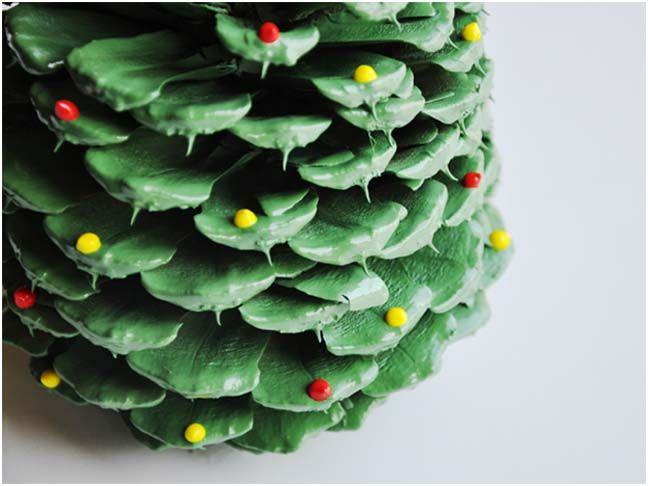 pinecone tree tutorialPainting Pinecone, Pinecone Christmas, Christmas Crafts, Pinecone Trees, Pinecone Ornaments, Pine Cones, Cones Trees, Chirstmas Trees, Christmas Trees