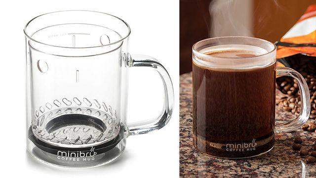 French Press Mug Brews a Perfect Single Serving of Coffee