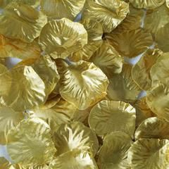 500 Silk Rose Petals For Wedding Party Table Confetti Decoration - Gold (Sold Out Until 2017-08-15)