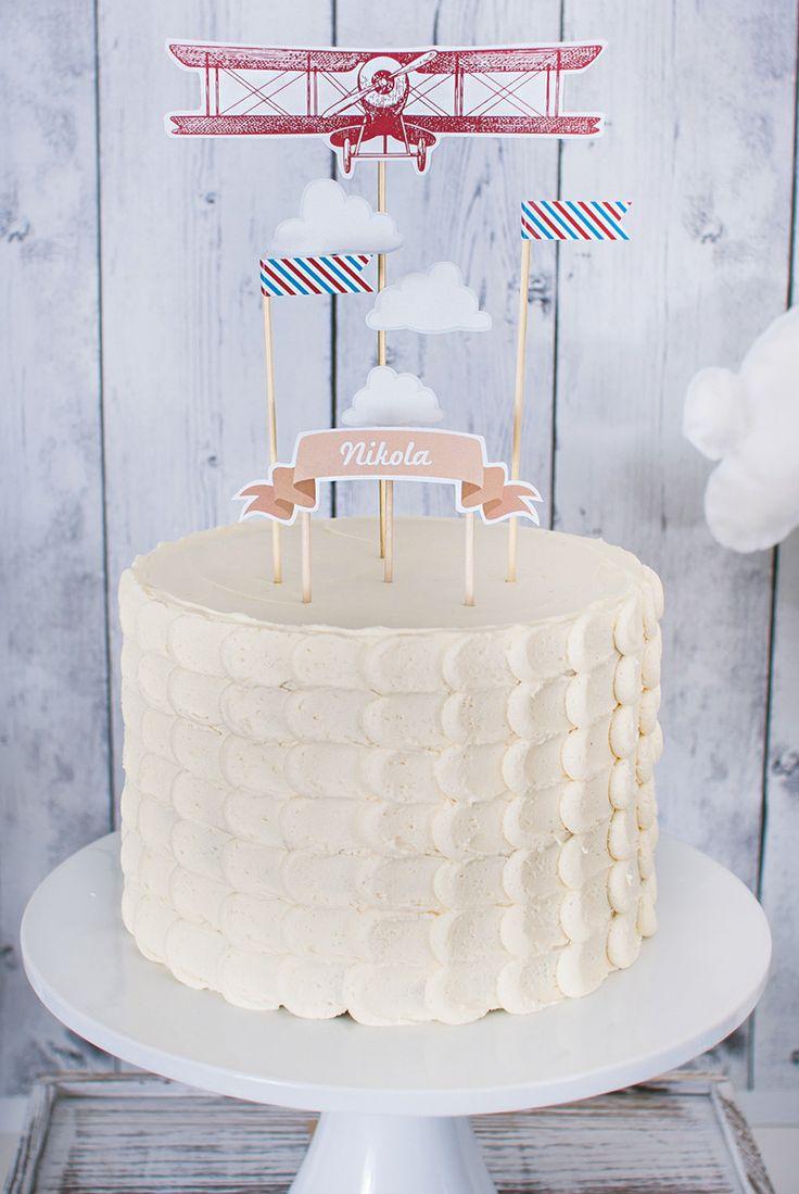 Time Flies Airplane Birthday Cake