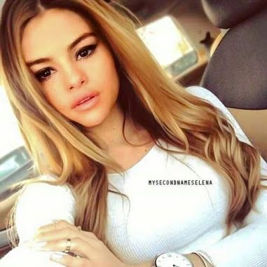 Selena if blonde<---we have similar face shape/skin color, makes me think I could pull off this color!