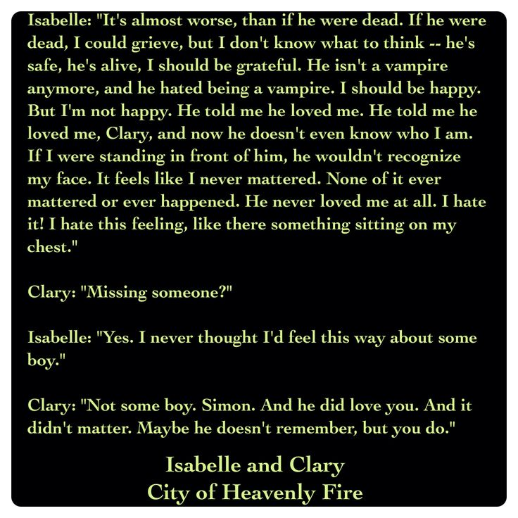 Isabelle Lightwood and Clary Fray (City of Heavenly Fire by Cassandra Clare ~ The Mortal Instruments book 6) Quote