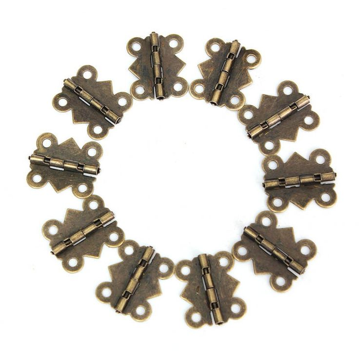 10 Set Antique Metal Cabinet Copper Hinges Small Hinges For Jewelry Boxes Wooden Box Door Brass Screws Hinge Mini Bisagras ZK17 #hats, #watches, #belts, #fashion, #style