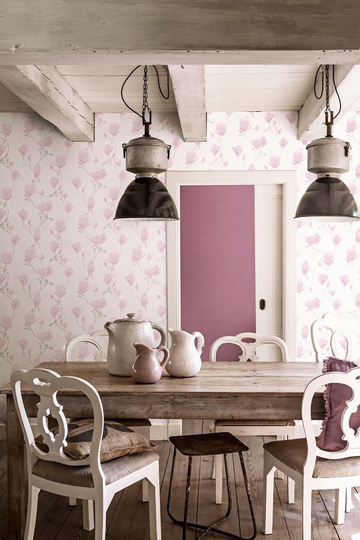 Wallpaper Fleurie Magnolia Pink / Behang Fleurie Roze - BN Wallcoverings