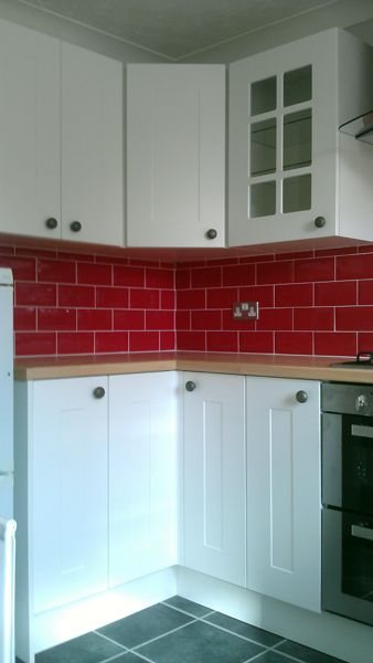Red Brick Tile Splashback Kitchen Ideas Pinterest We
