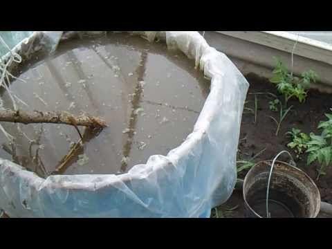 Приготовление жидкого органического удобрения - YouTube куриный помёт