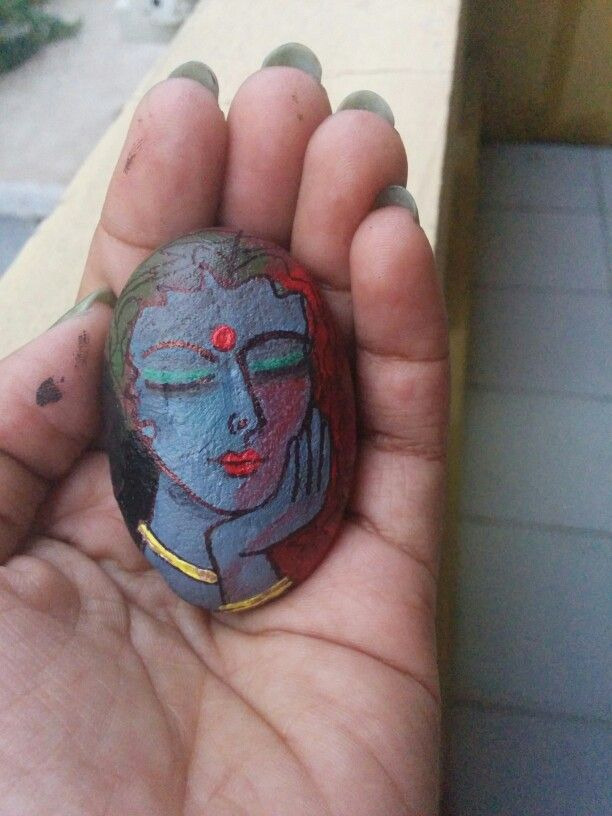 Mood - rock painting