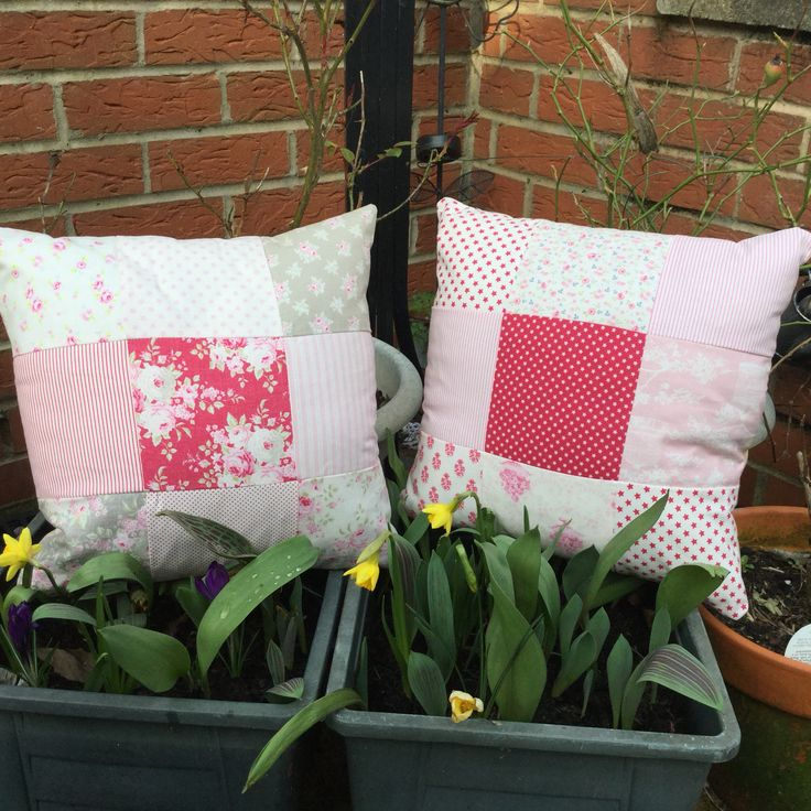 Tilda patchwork cushion