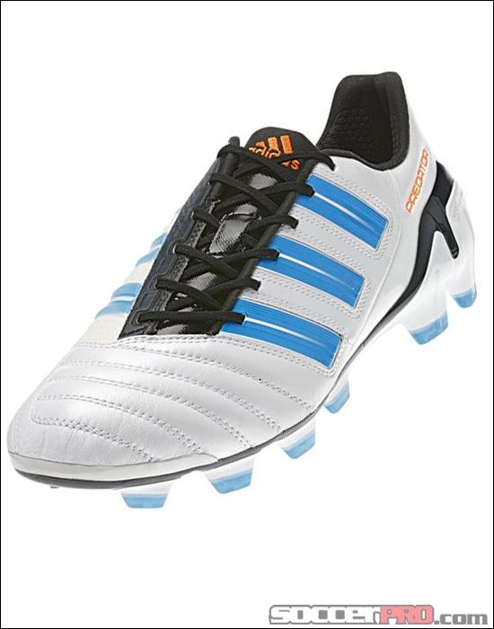 adidas adiPower Predator TRX FG - White with Predator Sharp Blue  Metallic...$159.99. Adidas Soccer CleatsSoccer ...