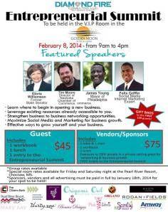 Entrepreneurial Summit 2014 Pearl River Resort, Feb. 08, 2014 Choctaw, MS 39350