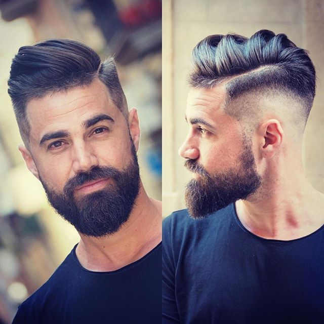 Mens Hairstyles With Beards choosing the perfect hairstyle and beard combination Find This Pin And More On Fade Haircuts With Beard By Rbbaker53
