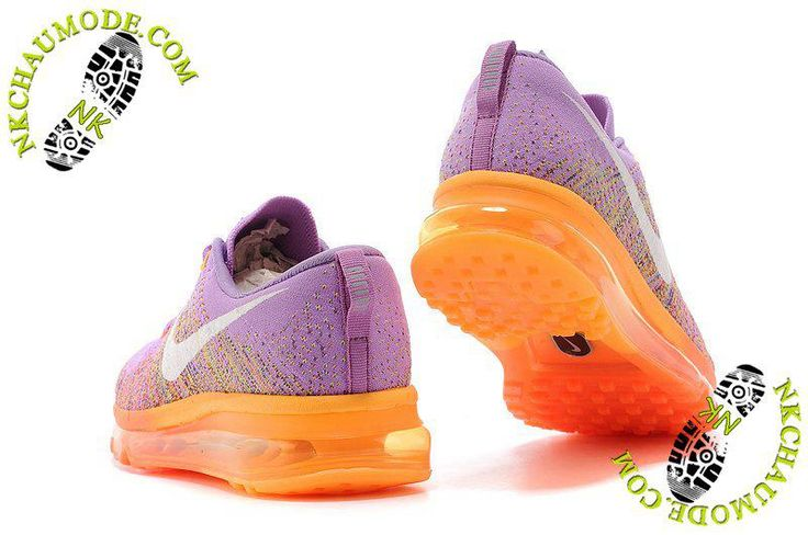 chaussure nike montante femme Air Max 2014 Pourpre/Orange
