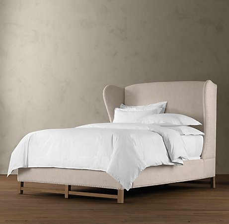 Wingback Upholstered Bed King