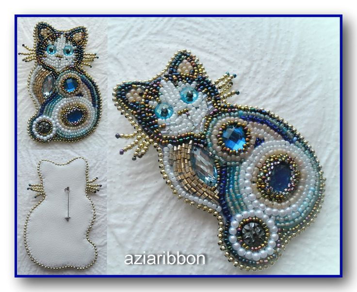 Cat and brooches | biser.info - all about beads and beaded works