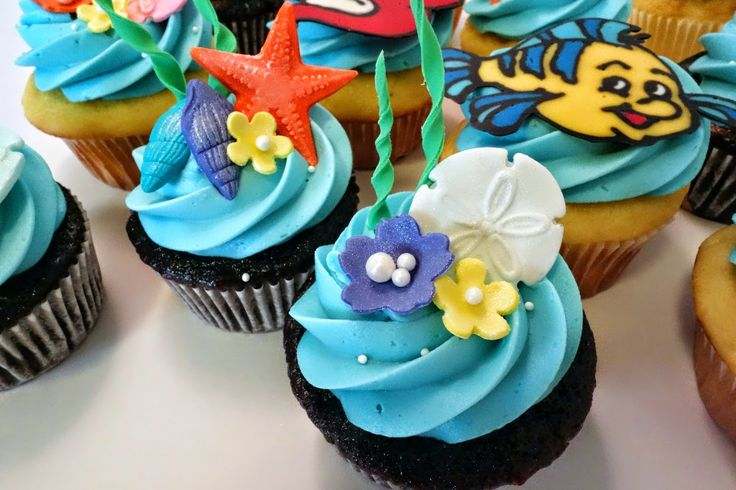 Candy Coated : Little Mermaid Under The Sea Cupcakes