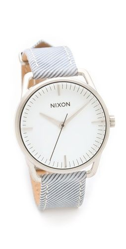 Nixon The Mellor Pinstripe Watch: Fashion Watches, Woman Watches, Women Watches, Nixon Watches, Women'S Watches, Pinstripe Watch, Watch Women, Mellor Pinstripe