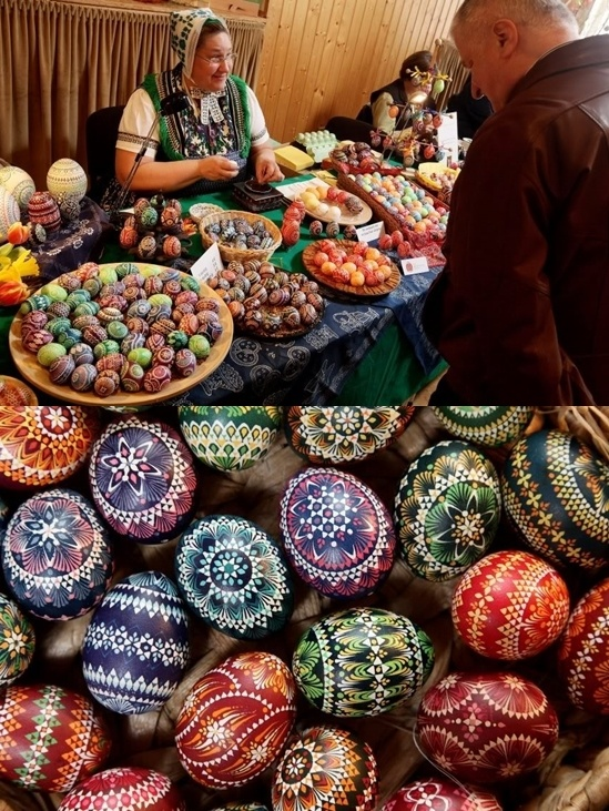 Slavic people known as Sorbs, who live in eastern Germany, maintain a centuries-old tradition of intricately painting Easter eggs. Easter egg painting is a strong part of the Sorbian tradition and visual elements within the paintings are meant to ward off evil. Many of the Sorbs still speak Sorbian, a language closely related to Polish and Czech.