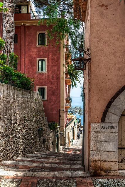 Side Street in Taormina,Italy