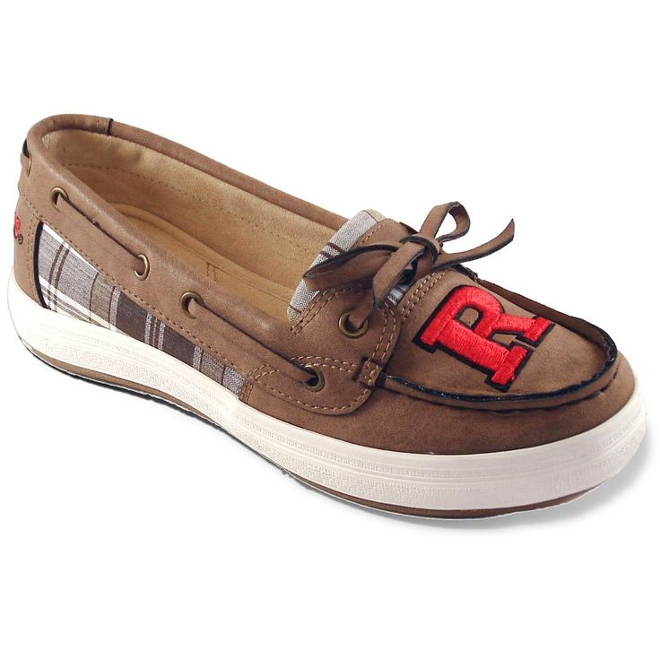 Women's Campus Cruzerz Westwind Rutgers Scarlet Knights Boat Shoes, Size: 10, Brown