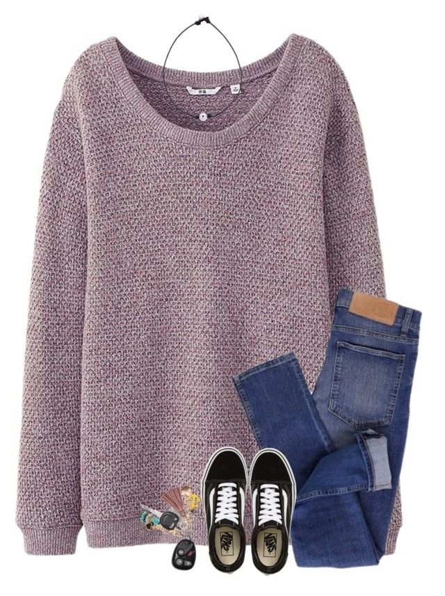 """""""i just want to know what is running through your head when you look at me"""" by southerngirl03 ❤ liked on Polyvore featuring Uniqlo, Cheap Monday and Vans"""