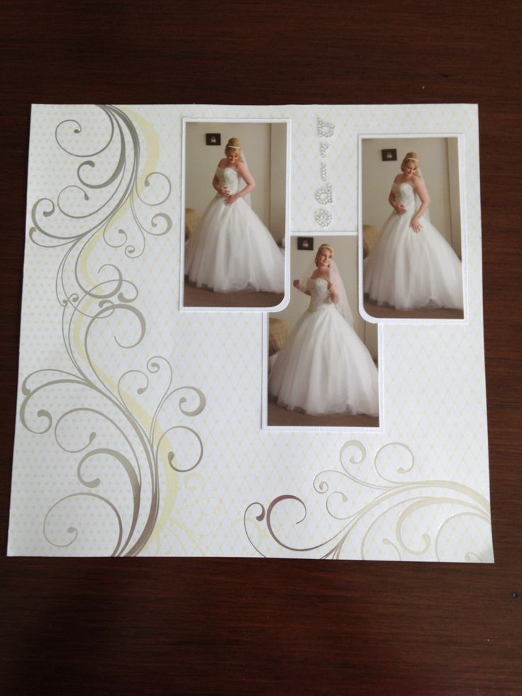 Wedding layout from my wedding scrapbook!                                                                                                                                                     More