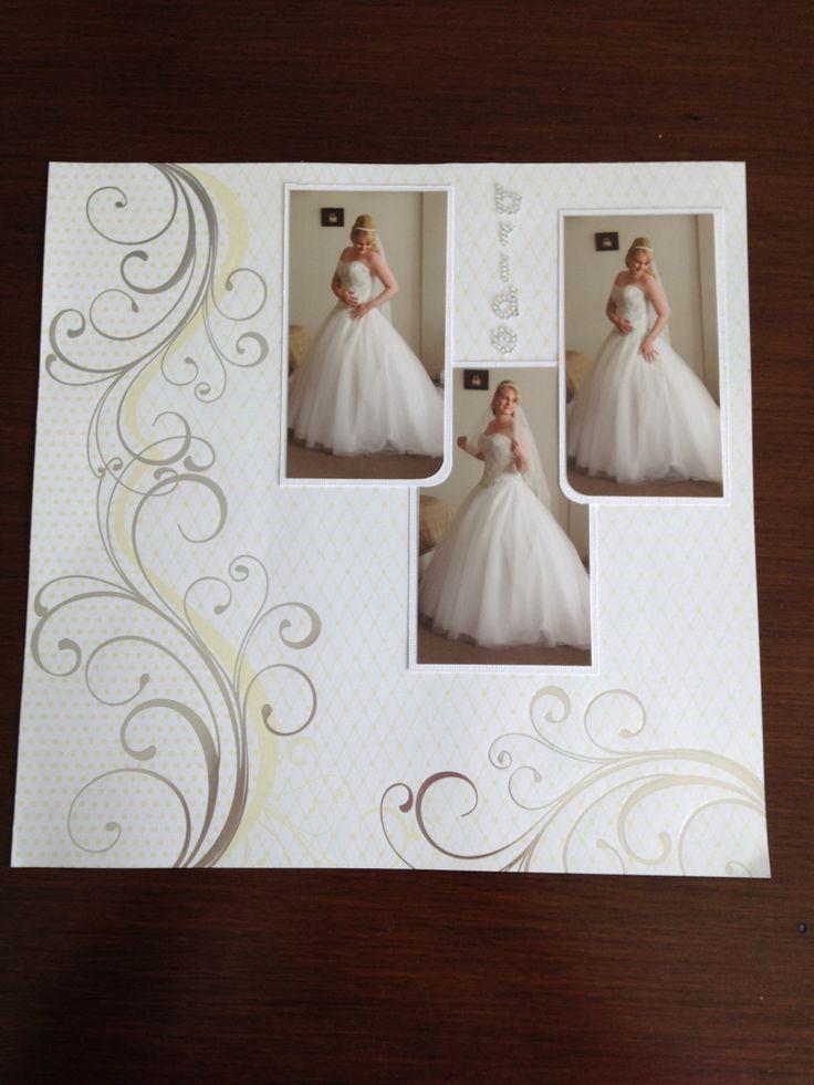 Wedding layout from my wedding scrapbook!