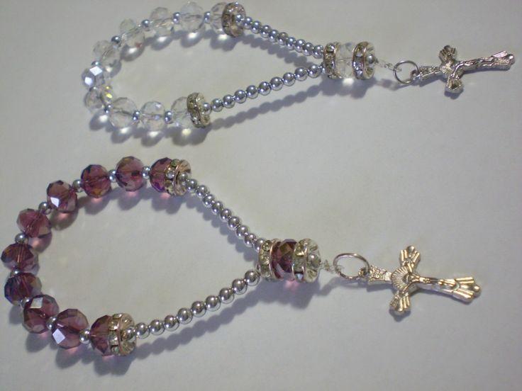 pulseras de perlas y cristales - Buscar con Google