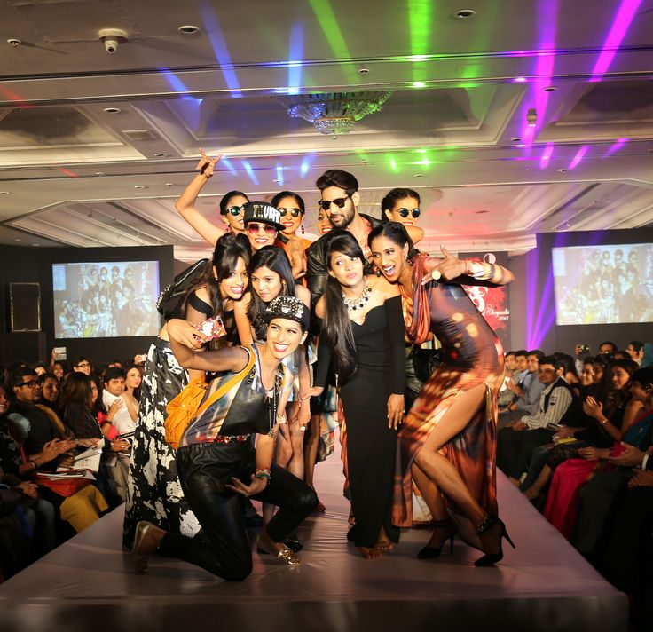 Models at the ramp at SNDT-AMD's Chrysalis fashion show