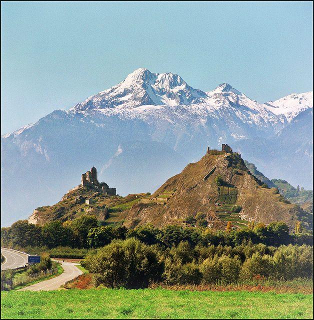 Sion - (Switzerland) - Tourbillon castle - Valère basilica by Katarina 2353, via Flickr